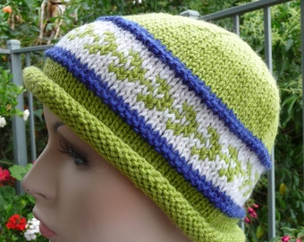 Pure Australian Wool Green Leaf Hat - 09106