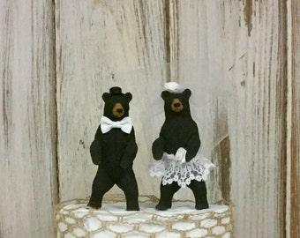 Bear Wedding Cake Topper, Animal Cake Topper, Woodland Cake Topper, Forest Cake Topper, Rustic and Shabby Chic