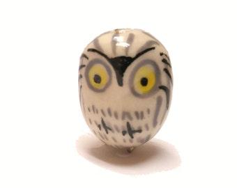 Owl Bead - Ceramic (set of 6)