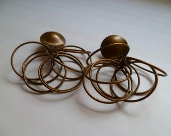 Designer Vintage Brass Earings