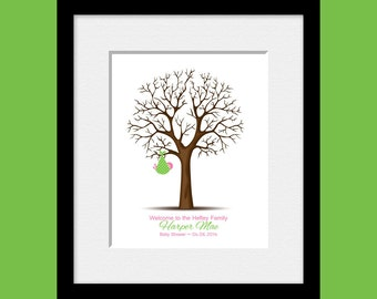 Guestbook Thumbprint tree, Baby Shower Guest Book Tree, Thumbprint Tree Nursery Print, Baby Boy Shower Gift, Baby Girl Shower Gift