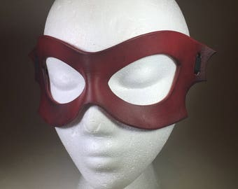 Red Leather Bat Mask