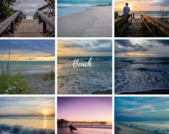 2018 wall calendar, 2018 calendar, 2018 Beach calendar, fine art photography, photography calendar