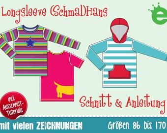 Longsleeve (Schmal)Hans Gr. 86–170 e-Book T-Shirt DEUTSCHE VERSION 1.5