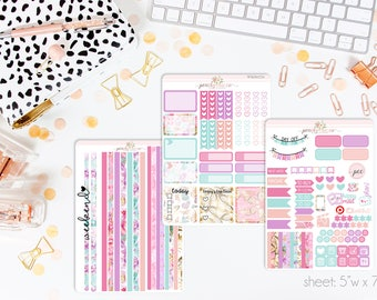 Butterfly HORIZONTAL Weekly Kit // 130+ Matte Planner Stickers // Perfect for your Erin Condren Life Planner // WKH0770