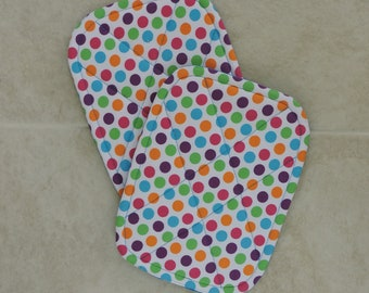 Pot holders multi-color dots - set of 2