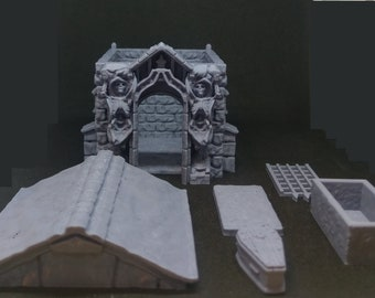 Mausoleum Terrain Piece |  RPG | Dungeons and Dragons | D&D | Dice | Dungeon Master | RPG Miniature |Tabletop Gaming | Fat Dragon