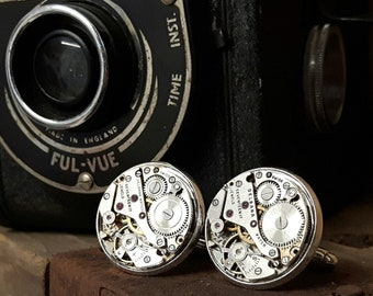 Vintage Delbana Watch Movement Cufflinks