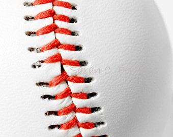 24x36 Photo-Baseball Photography-Sports Decor-Fine Art Print-Original Art-Baseball Wall Decor-Boys Room Wall Art-Gifts for Men-Red & White