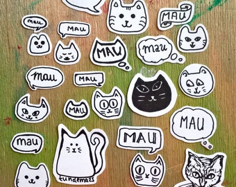 sticker set kitty cats / cicás matrica készlet