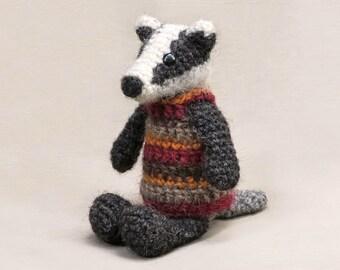Crochet amigurumi badger pattern