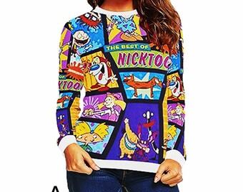nickelodeon toons set 1 sweatshirts women