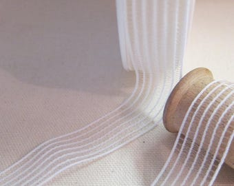 Shirring elastic white 25 mm the meter