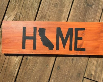 Home State Wood Sign, hand painted state sign, wood home state decor. Home state sign