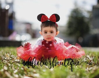 mouse ears for baby - toddler - Headband - Minnie - Disney - Disneyland - Baby - Minnie Ears