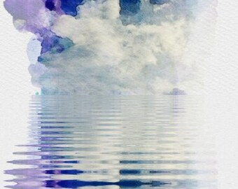 Mirrored clouds (blue)