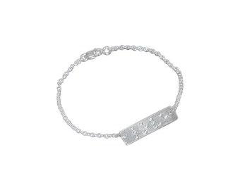 Love Is Blind Braille bracelet with diamonds