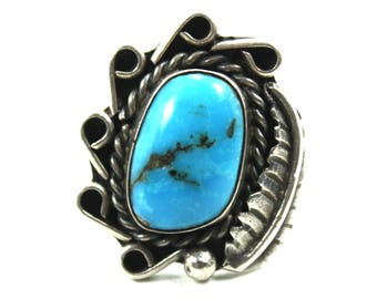 Ring, Turquoise, Sterling Silver Ring, Turquoise Ring, Silver Ring, Boho, Turquoise Jewelry, Boho Ring, Statement, Boho Jewelry, Rings