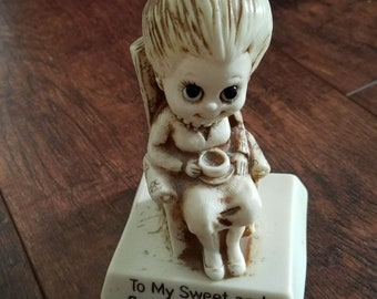 R & W Berries Vintage 1970's My Sweet and Special Grandma Rockingchair figurine