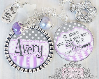 Blended Family Wedding Gift- STEP DAUGHTER Necklace -Personalized Blended Family Jewelry-Gift for Flower Girl -Wedding- Flower Girl Necklace