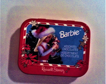 Russell Stover Barbie Christmas Tin Small BL 1112
