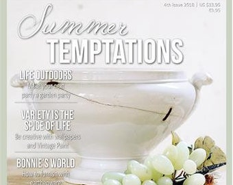 Newest Jeanne d'Arc Living Magazine Issue #4 Summer Temptations FREE SHIPPING!