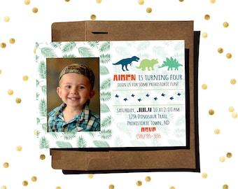 Dinosaur - Boy/Girl Birthday Invitation
