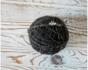 Yarn Newfoundland of hand spinning from dog fur / Пряжа «Ньюфаундленд» ручного прядения из шерсти собаки