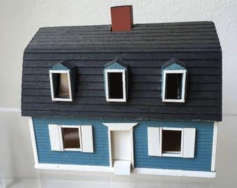 Dollhouse Miniature Gudgel Blue House 1981