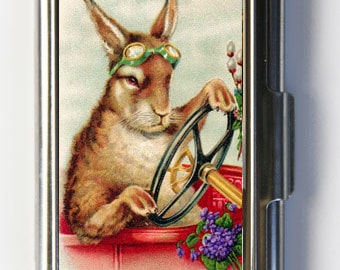 Steampunk Rabbit Business Card Holder Card Case anthropomorphic