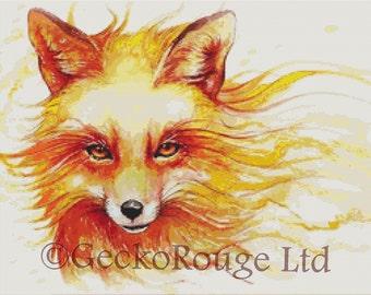 Fox Cross Stitch Kit - Licensed Art By Jonas Joedicke - Autumn - Jojoes Art