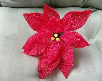 Red Bead Poinsettia