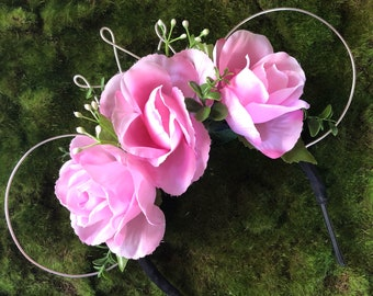 Rose Mouse Ear Headband with Crown