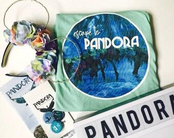 Pandora World of Avatar Escape to Pandora Mint Tee Tshirt Walt Disney World Animal Kingdom