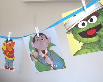 Vintage Sesame Street BUNTING, Sesame Street Party, Decorations