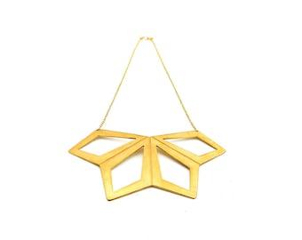 Geometric Flower Necklace