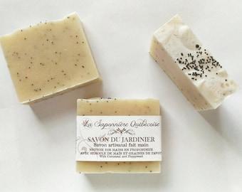 Savon du jardinier, Savon artisanal fait main 100% naturel, Cold process All Natural Handmade Soap
