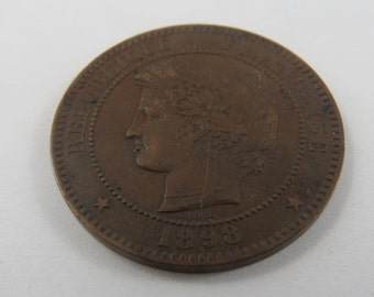 France 1898A 10 Centimes Coin.
