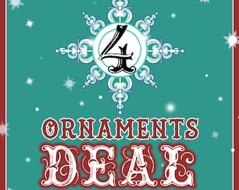 XMAS 4 Ornaments Combo Deal !!