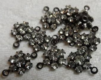 Swarvorski diamond crystal 8mm clusters vintage gold plate,10pcs-SZC05
