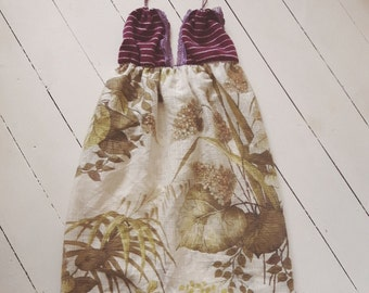 Strappy summer dress recycled eco fashion