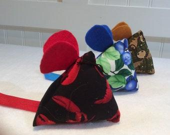 "Cat Nip Toy,  Cat Rats ""Acadia""  Collection, Three Blind Mice,Cat Nip Mice, Cat Nip Mouse,  Catnip Toy, Cat Nip, Quiltsy Handmade"