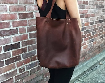 Kodiak Brown Leather Tote Bag
