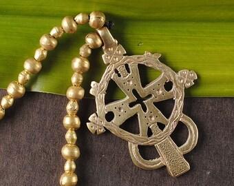 Ethiopian cross necklace , Ethiopian beaded necklace , Rasta jewelry, boho pendant jewelry , African beaded necklace , Ethiopian necklaces