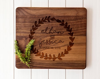 Custom Cutting Board Couple Cutting Board Housewarming Gift Wedding Gift Anniversary Gift Personalized cutting board Cheese Board - 007