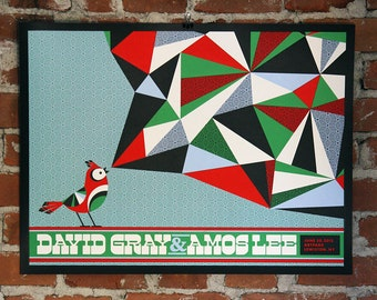 David Gray + Amos Lee- Official Gigposter - Lewiston, NY