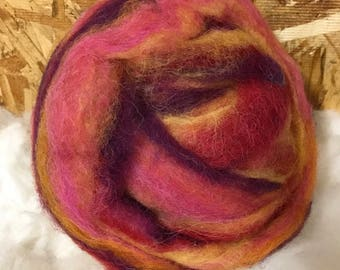 Alpaca Wool Roving, Spinning, Felting, Island Sunset