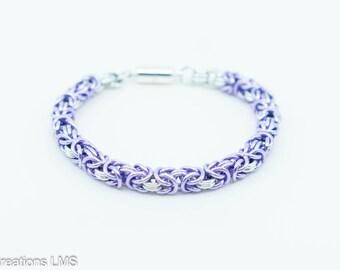 Lilac Byzantine Bracelet