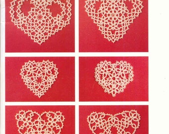 Tatting Hearts ~ Tatting Book ~  Soft Cover Book ~ Dover ~  Brand New