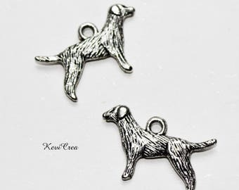 silver metal 5 x dog charms